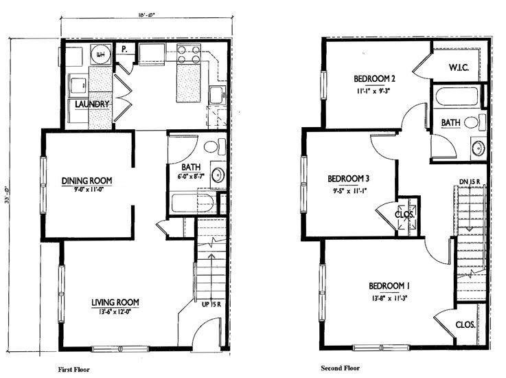 28 two story floor plan floor plans for two story for Simple 2 story house plans